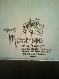 Graffiti in the Johannesburg magistrate's court toilet