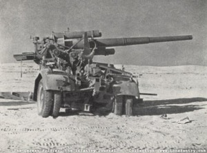 The type of artillery piece that most likely fired the shell, that took out the Sherman tank