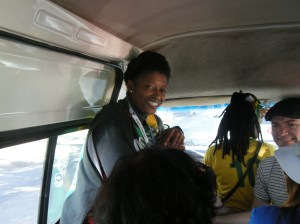 Angel Mpho Mokoene, our guide for the day