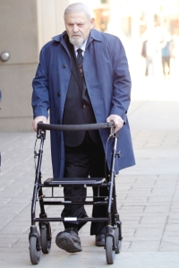 Dr Aubrey Levin heading to court with his Zimmer Frame